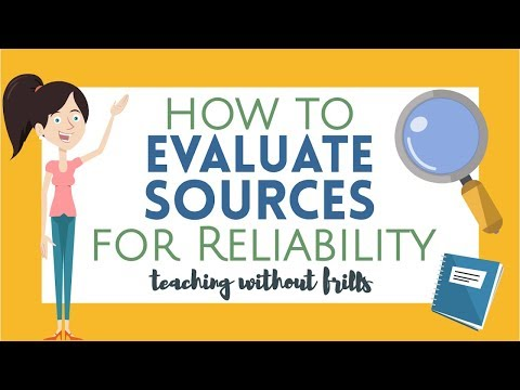 Writing Videos for Kids: How to Evaluate Sources for Reliability