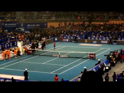 (4K) Roger Federer vs Rafael Nadal International Premier Tennis League (IPTL) Finals Tie Breaker