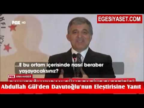 Abdullah Gül'den Davutoğlu'nun Eleştirisine Yanıt: Herkese Başsağlığı Diledim