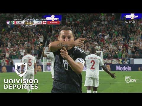 ¡Gooolaaazo de Andrés Guardado! México ya vence 2-0 a Canadá
