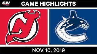NHL Highlights   Devils vs. Canucks – Nov. 10, 2019