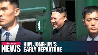 Kim Jong-un leaves Vladivostok earlier than planned, cancelling economic visits thumbnail