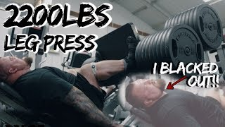 PASSED OUT DOING 1000KG LEG PRESS!