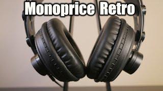 Monoprice Retro Headphones - Budget Over the Ear Headphones Under $35