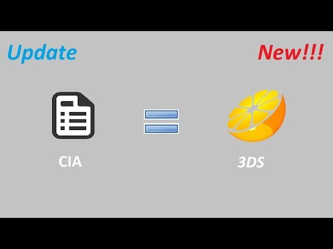 How To Convert Cia To 3DS Playable Files *UPDATE* Extender File Fix (EASY)