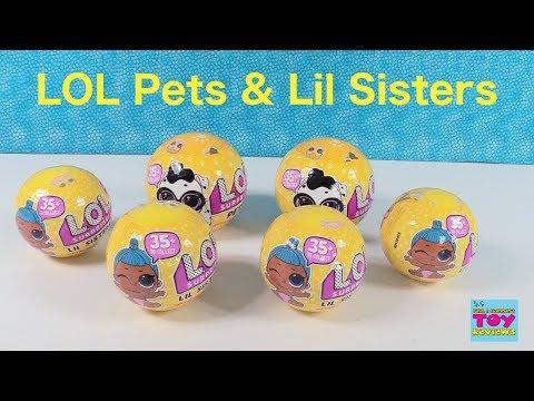 LOL Surprise Pets & Lil Sisters Wave 2 Series 3 Confetti Pop Toy Review   PSToyReviews