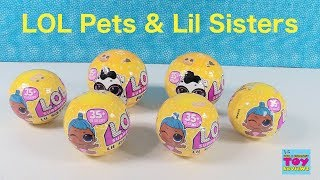 LOL Surprise Pets & Lil Sisters Wave 2 Series 3 Confetti Pop Toy Review | PSToyReviews