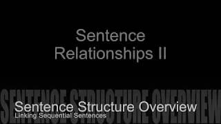 Sentence Structure Coordination Relationship