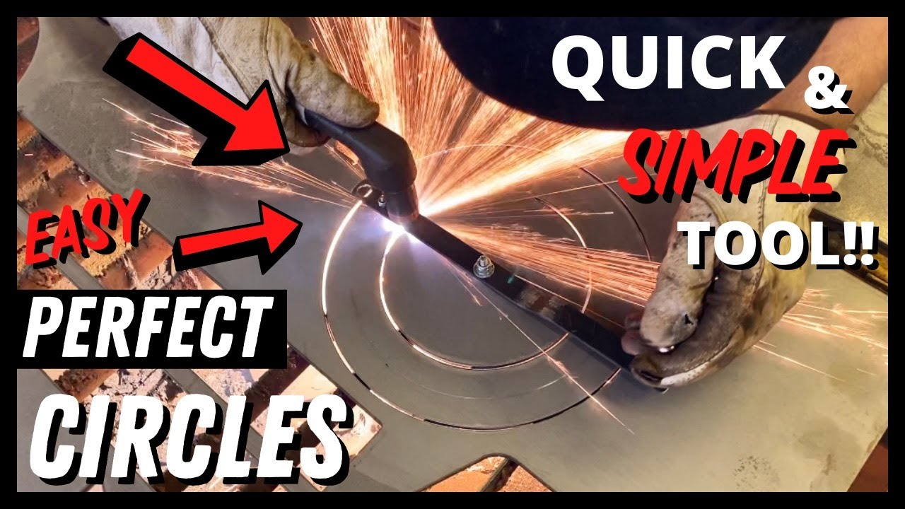 How to Make a QUICK + EASY Circle Cutting Guide for Your PLASMA CUTTER!!