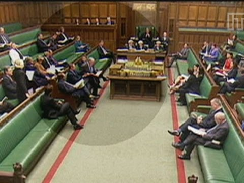 There's someone sitting there mate: MP sits on Energy Secretary in the Commons