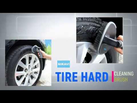 Nikavi Car Wheel Tire Rim Scrub Brush Hub Clean