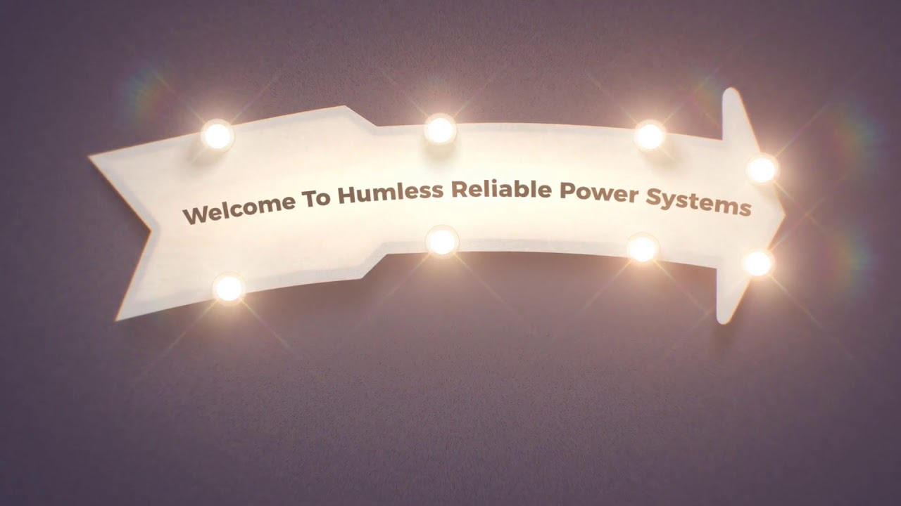 Humless : Off Grid Power Generator