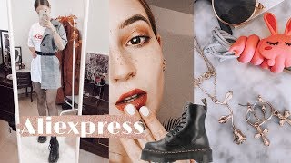 HAUL de ALIEXPRESS | Ropa TUMBLR, Botas Dr. MARTENS ???????? TRY ON