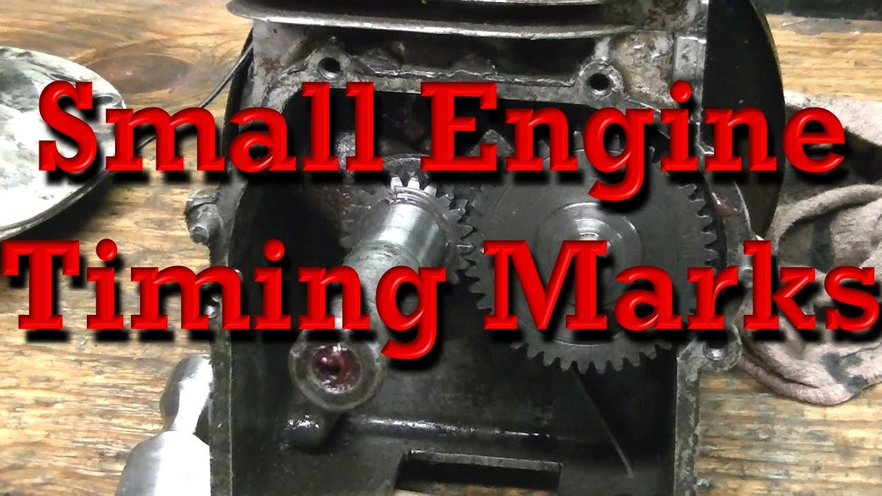 Small Engine Timing Marks  B U0026s As Example