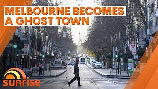 Melbourne becomes a ghost town amid Stage 4 restrictions and curfew | 7NEWS