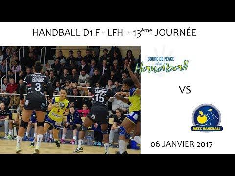 2017 01 06 01 Rencontre Sportive Championnat LFH D1F 13ème journée Bourg de péage vs Metz