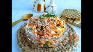 Салат с морковью и творогом. Можно есть вечером!