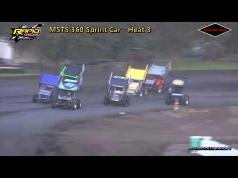 MSTS 360 Sprint Car Heats - Rapid Speedway - 7/17/18