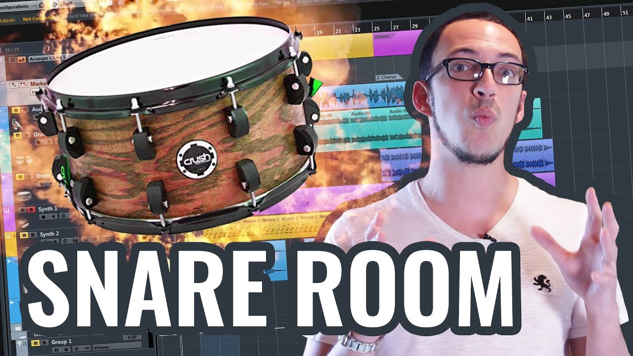 Using snare drum room samples in Cubase with Joey Sturgis