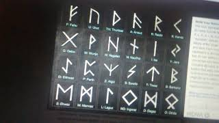 Wicca: how to write your name in runes / witch