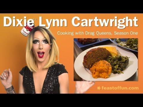 Cooking with Drag Queens  Dixie Lynn Cartwright  Meatloaf & Mashed Sweet Potatoes