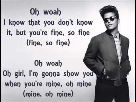 Treasure   Bruno Mars Lyric Video