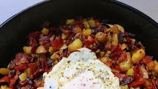Best Spanish Chorizo Hash recipe by SAM THE COOKING GUY