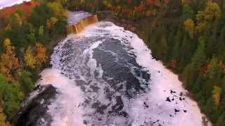 DJI Phantom vison 2, aerial  of Taq falls 5min video