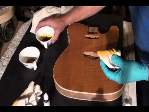 Applying amber dye
