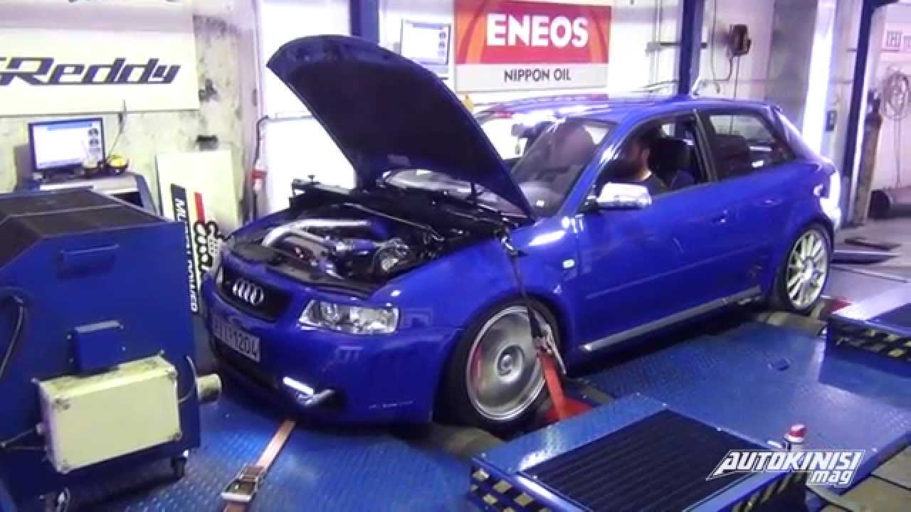 audi s3 8l 0 400 tune 2 race 545hp on the dyno. Black Bedroom Furniture Sets. Home Design Ideas