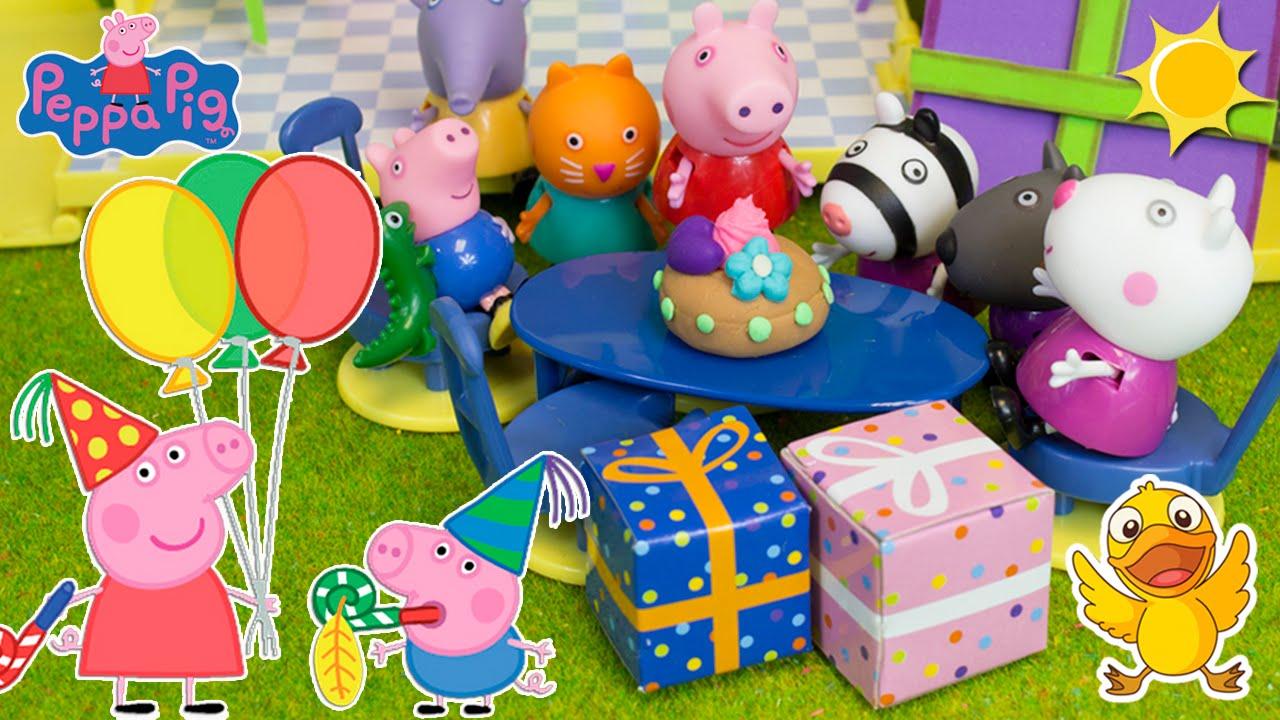 Peppa pig celebra su cumplea os fiesta sorpresa para - Fiesta sorpresa de cumpleanos para nina ...