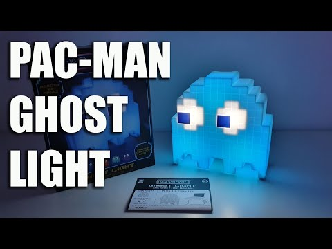 PAC MAN Ghost Light, Reacts To Music, Retro Light - Unboxing And Setup
