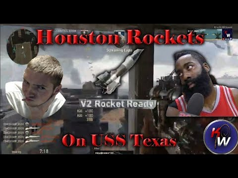 COD WWII: Dropping Houston (V2) Rockets on USS Texas