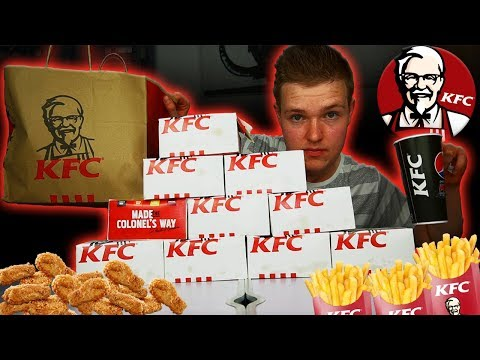 KFC - 10 FILL-UP LUNCH BOXES CHALLENGE (7,000 CALORIES)