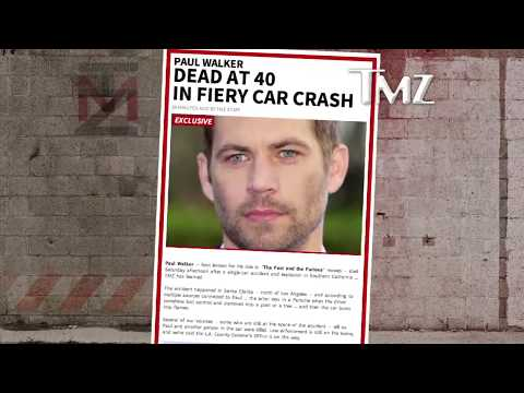 PAUL WALKER BODY - R.I.P. -  FUNERAL DEAD - Hollywood