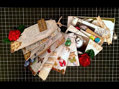 Altered Art Recycled Clothes Tags Mini Album (1 of 2)