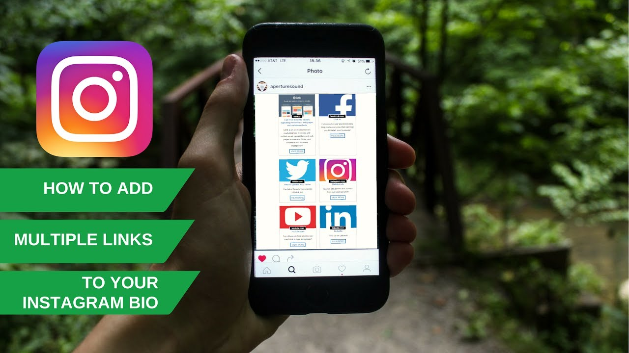 how to add youtube link to instagram profile