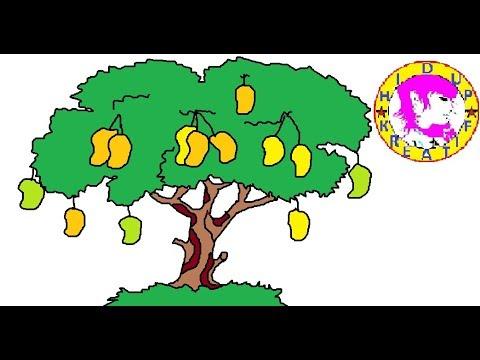 Cara Menggambar Pohon Mangga Youtube