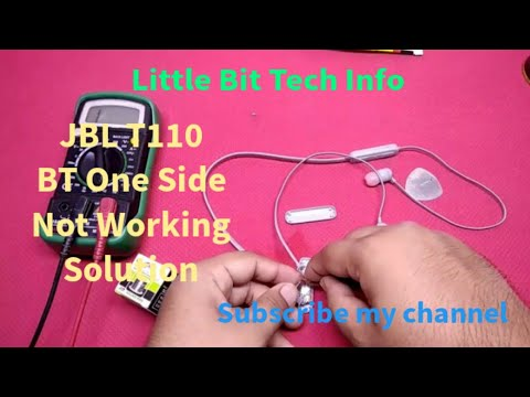 JBL T110BT Wireless Earphone को कैसे Repair करे | One Side Earbud Not  Working