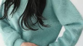 루즈핏 라운드소매 소라색니트 키작녀 밍크털 니트