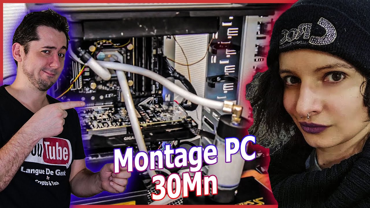 monter son pc gaming watercooling en 30 minutes tuto avec harleen fae languedegeek youtube. Black Bedroom Furniture Sets. Home Design Ideas