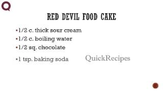 Red Devil Food Cake - How To