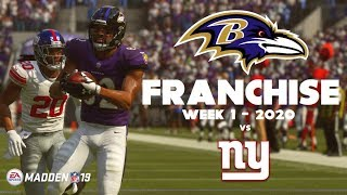 A NEW SEAS0N BEGINS!!!! Week 1 vs Giants - Baltimore Ravens Franchise