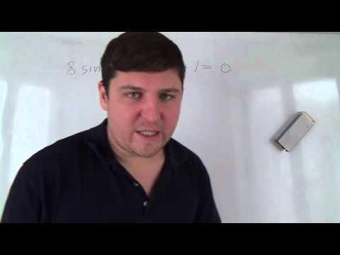Вопрос: Как решать тригонометрические уравнения?