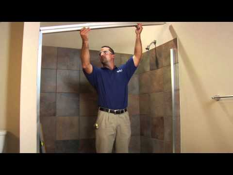 DIY Framed Shower Door Installation - Basco Deluxe 6150 & 7150 How To