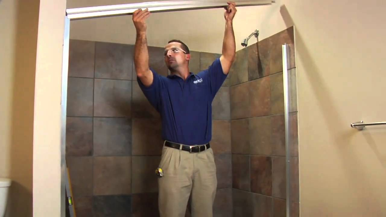 Diy Framed Shower Door Installation Basco Deluxe 6150 7150 How