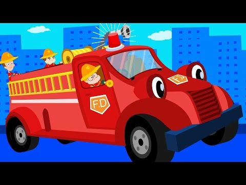 The Wheels On The Fire Truck | Original Nursery Rhymes | Baby Songs | Kids Rhymes | kids tv