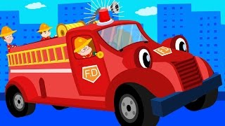 The Wheels On The Fire Truck | Original Nursery Rhymes | Baby Songs | Kids Rhymes | kids tv