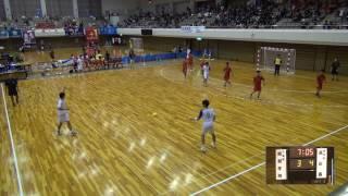 7日 ハンドボール男子 あづま総合体育館Aコート 高山西×昭和学院 3回戦1
