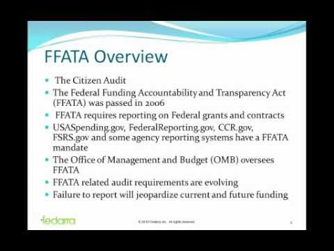 Fedarra: FFATA Sub-Awardee Orientation
